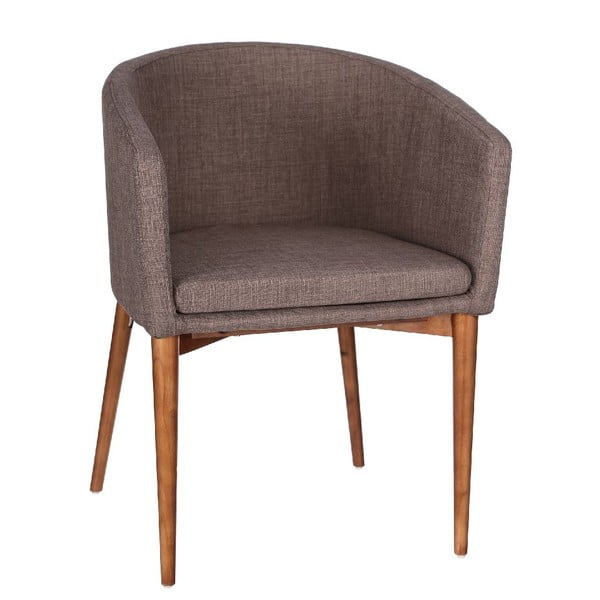 Fotel Peans, brązowy