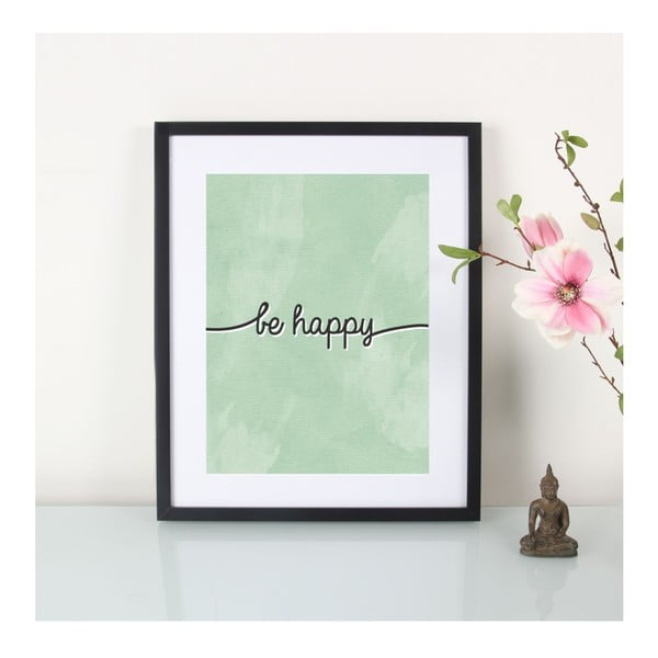 Plakat Be Happy, A3