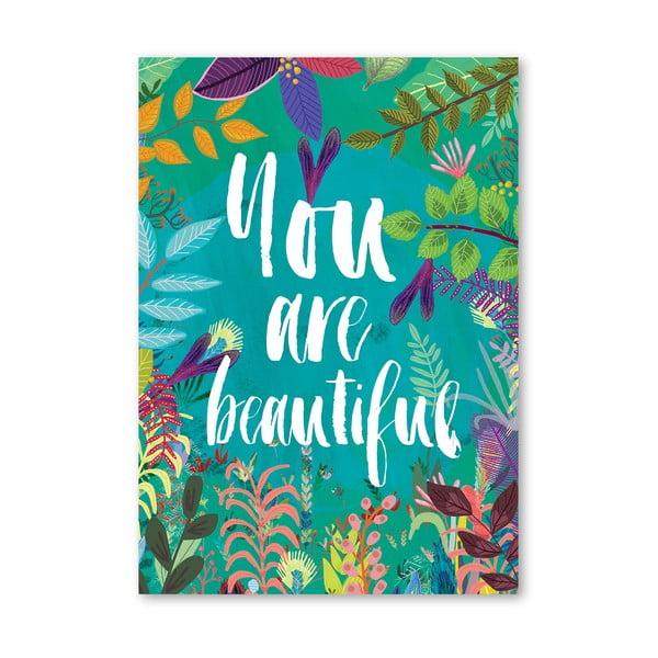 Plakat (projekt: Mia Charro) - You Are Beautiful