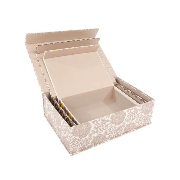 Zestaw 3 pudełek Grey Ornament