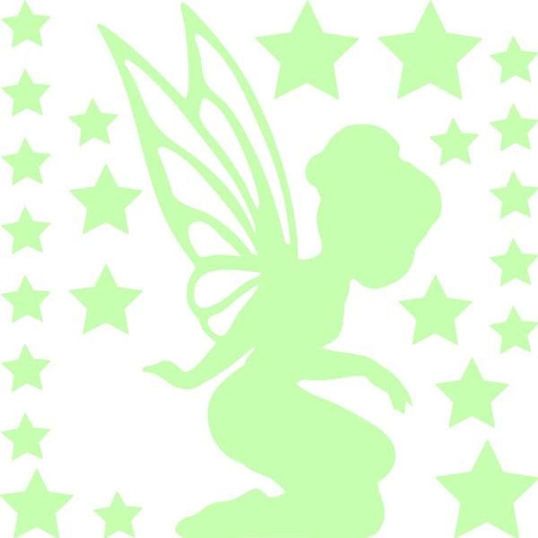 Naklejka świecąca w ciemności Fanastick Fairy With Small Stars