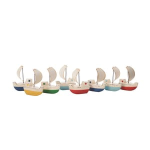 Komplet 8 dekoracyjnych łódeczek Galleon