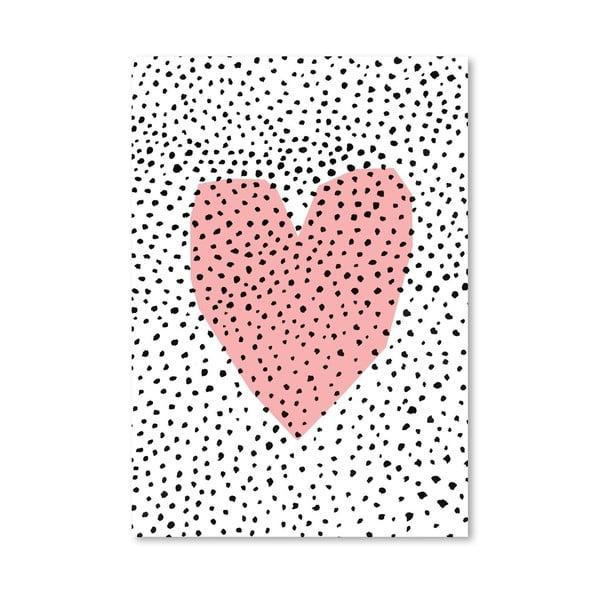 Plakat Dotty Heart, 30x42 cm