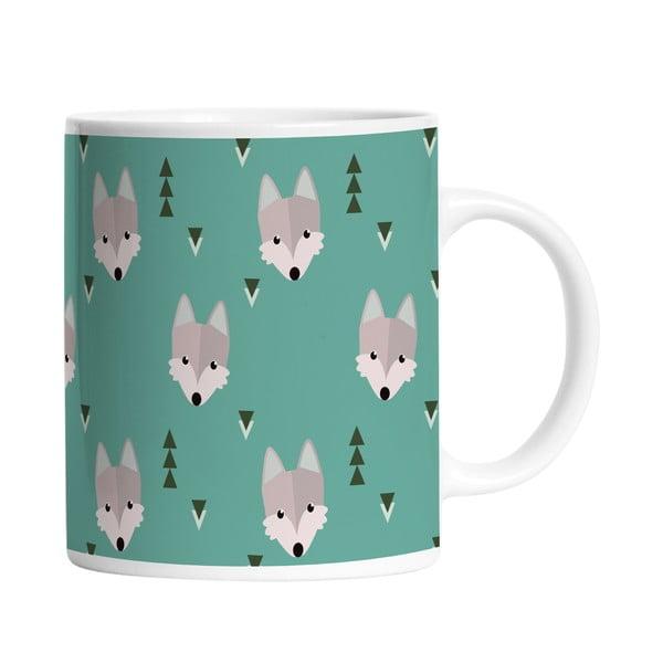 Ceramiczny kubek Wolfy Wolves, 330 ml