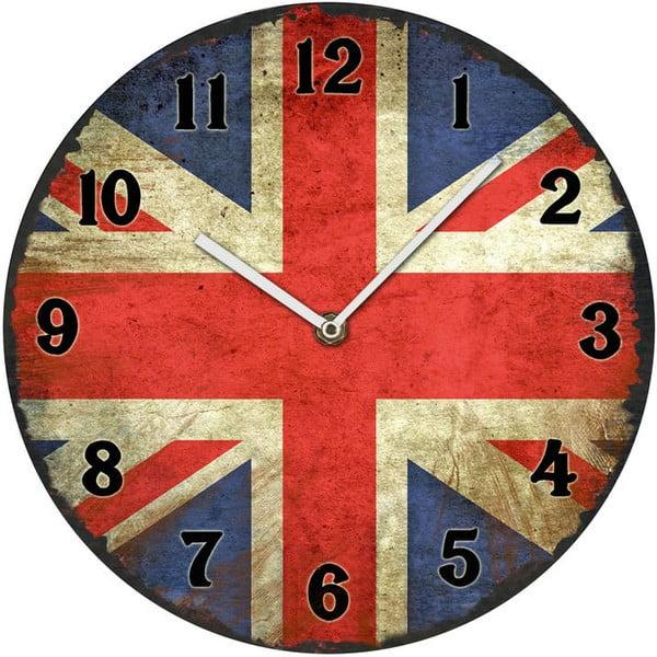 Szklany zegar UK, 30 cm