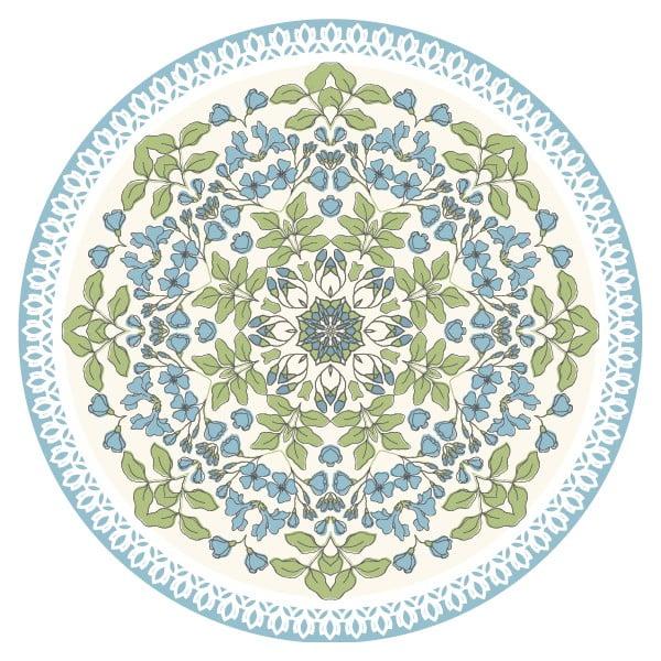 Zestaw 2 mat stołowych Blue Circle