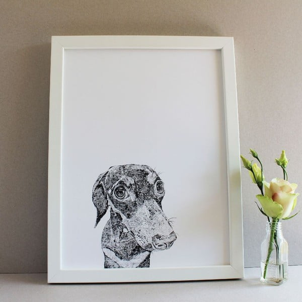 Plakat Ralf the Miniature Daschund, 30x40 cm