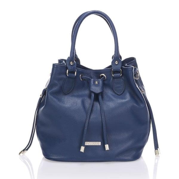 Skórzana torebka Krole Kenna, niebieska