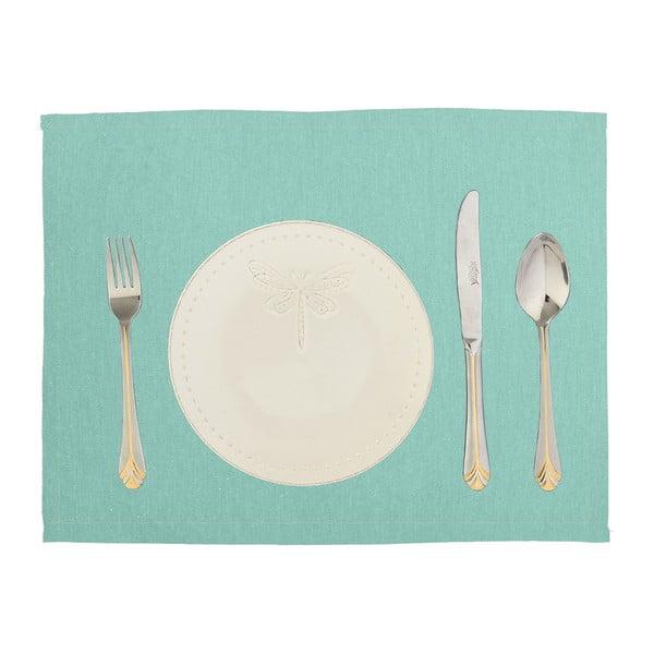 Komplet 2 mat stołowych Joy, niebieskie