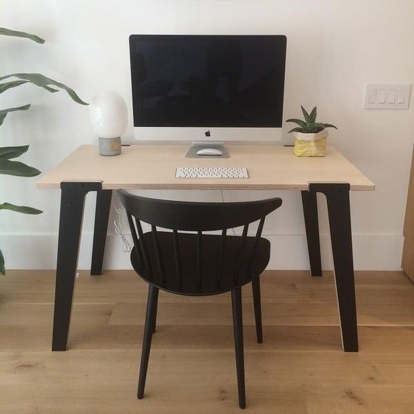Czarny stół/biurko rform Switch, blat 122x63 cm