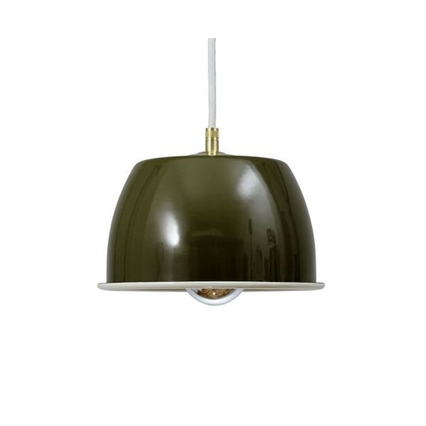 Lampa sufitowa Emailleleuchte 05 Olive/White