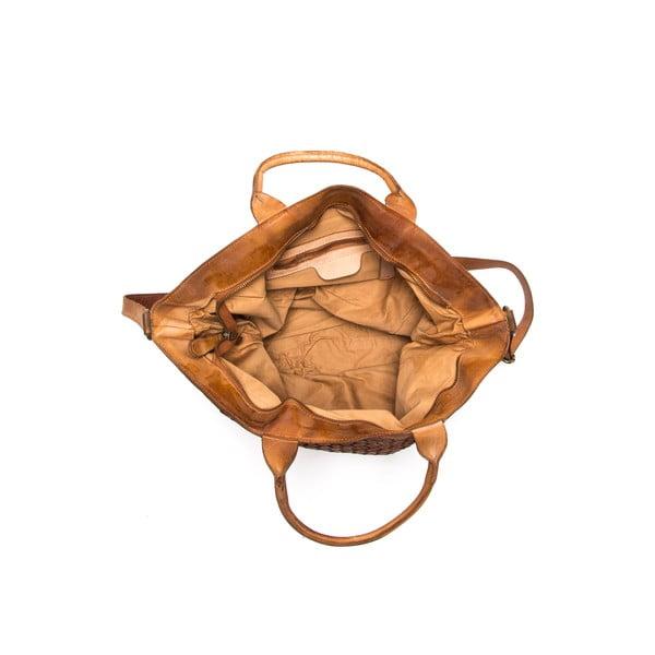 Skórzana torebka Anna Luchini 14 Cognac