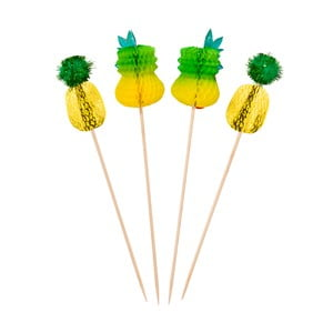 Zestaw 12 dekoracji do drinków Talking Tables Fiesta Pineapple