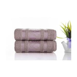 Zestaw 2 ręczników Carmen Light Lilac, 50x90 cm