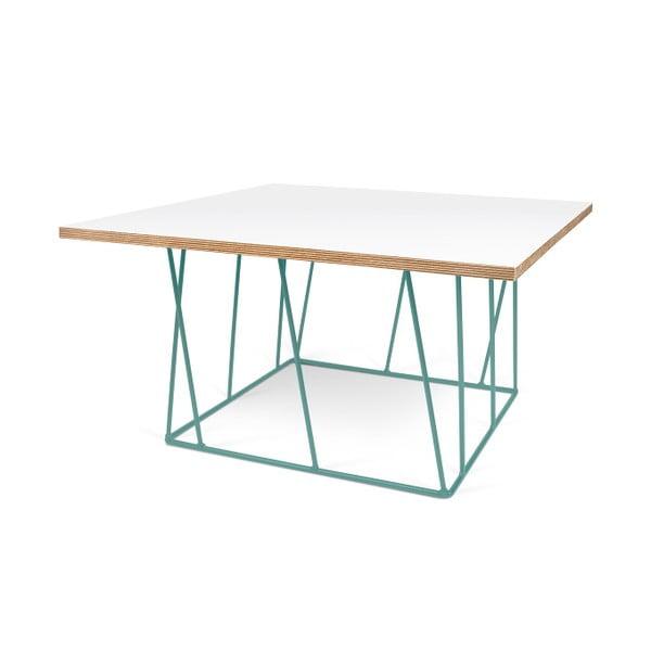 Biały stolik z zielonymi nogami TemaHome Helix, 75 cm