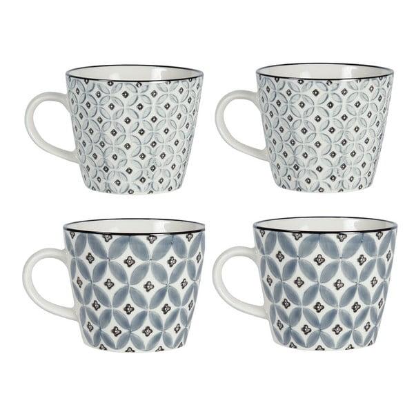 Zestaw 4 porcelanowych kubków Old Floor Cups