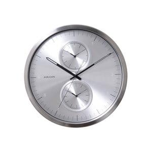 Srebrny zegar Present Time Multiple Time