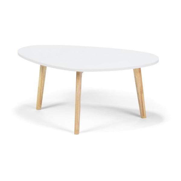 Biały stolik loomi.design Skandinavian, dł. 84,5 cm