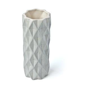 Szaro-biały wazon Hawke&Thorn, wysokość 19 cm