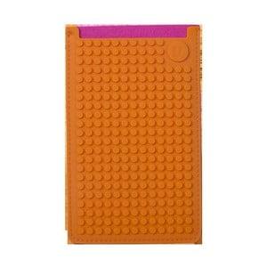 Pikselowe etui na telefon PixelArt, duże, fuksja/pomarańczowe