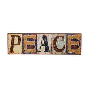 Tablica Peace, 43x12 cm