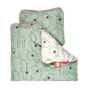 Zielona pościel dziecięca Done By Deer Contour, 100x130 cm