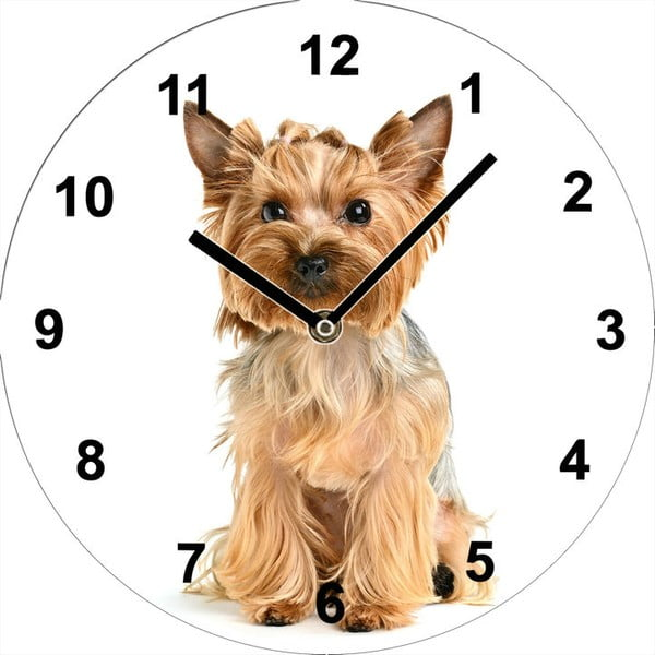 Szklany zegar Yorkshire, 34 cm
