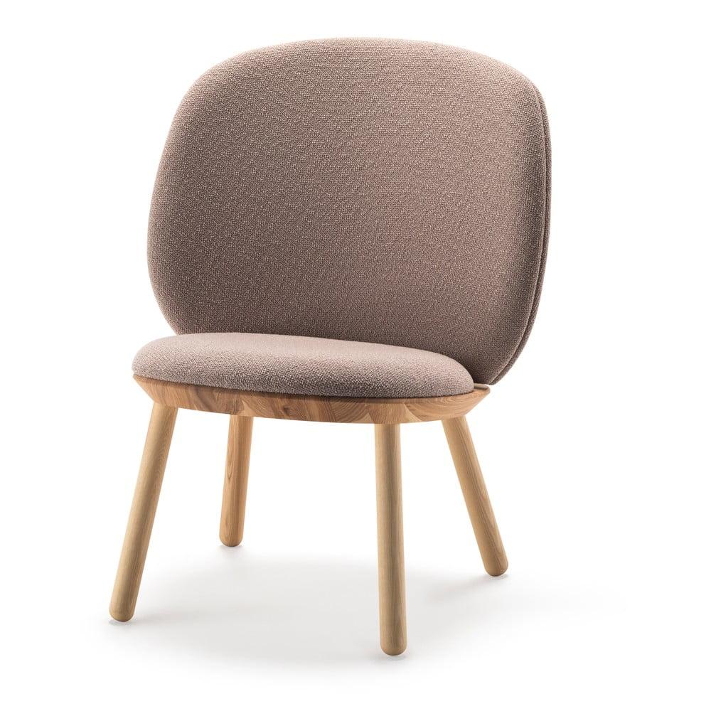 Beżowy wełniany fotel EMKO Naïve