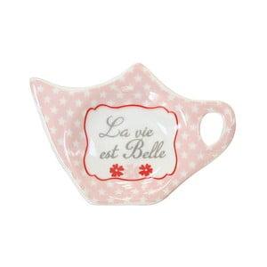 Miska na torebkę od herbaty Krasilnikoff Pink Stars