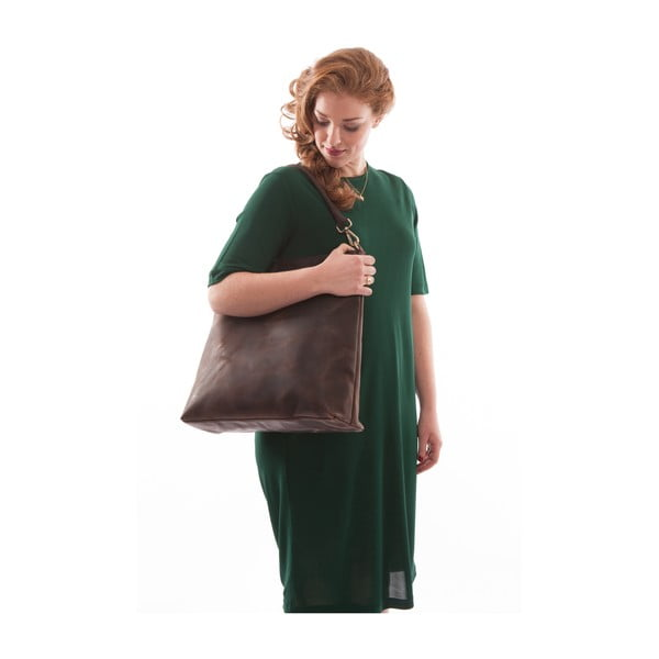 Torebka skórzana O My Bag The Janet, ciemnobrązowa