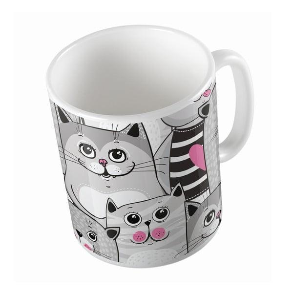 Kubek Butter Kings Grey Kitties