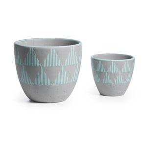 Zestaw 2 doniczek ceramicznych La Forma Orb Stripe