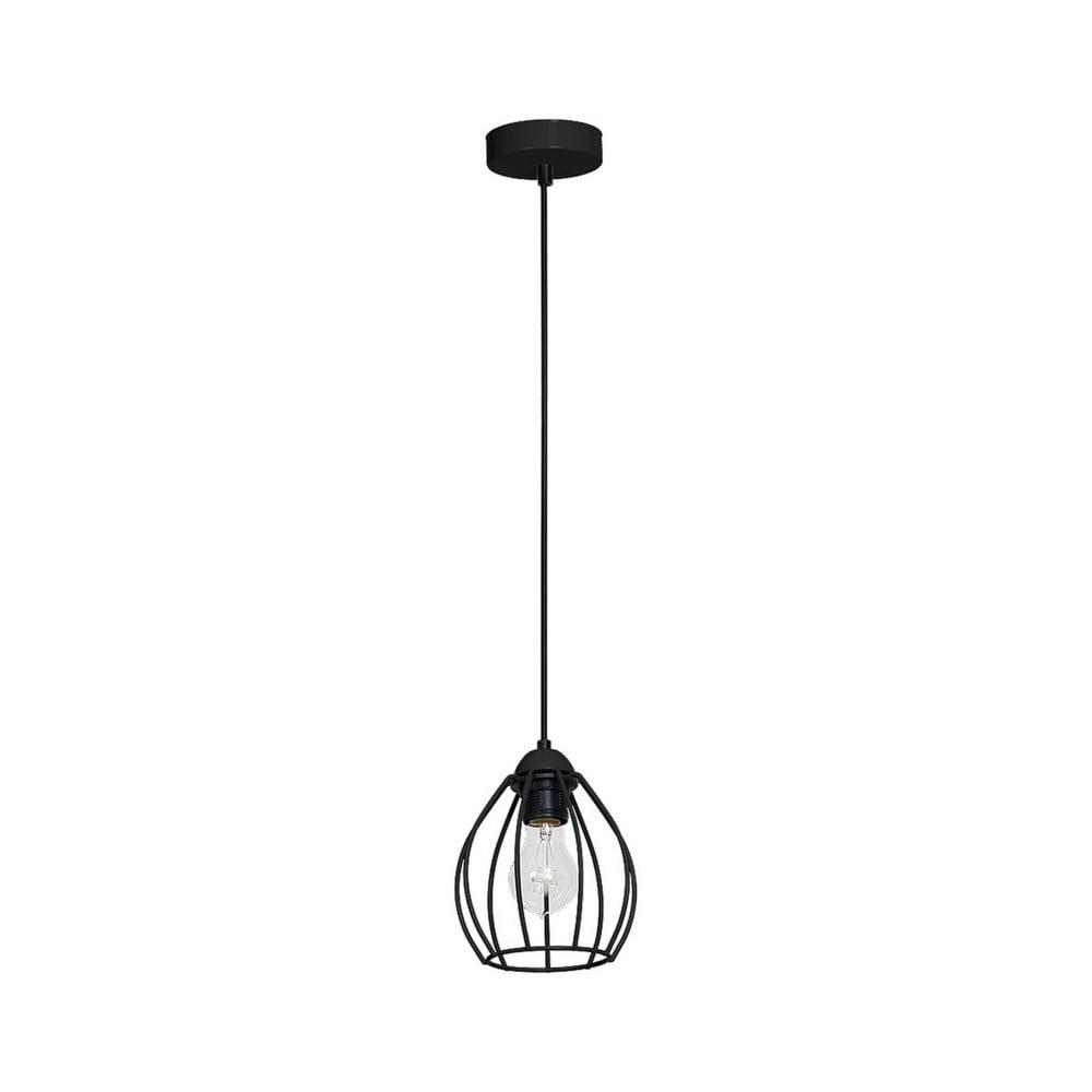 Czarna lampa wisząca Don Uno