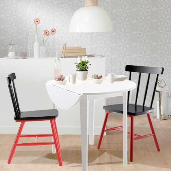 Biały stół 13Casa Kaos, Ø91,5cm