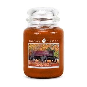 Świeczka zapachowa w szklanym pojemniku Goose Creek Świeże siano, 0,68 kg