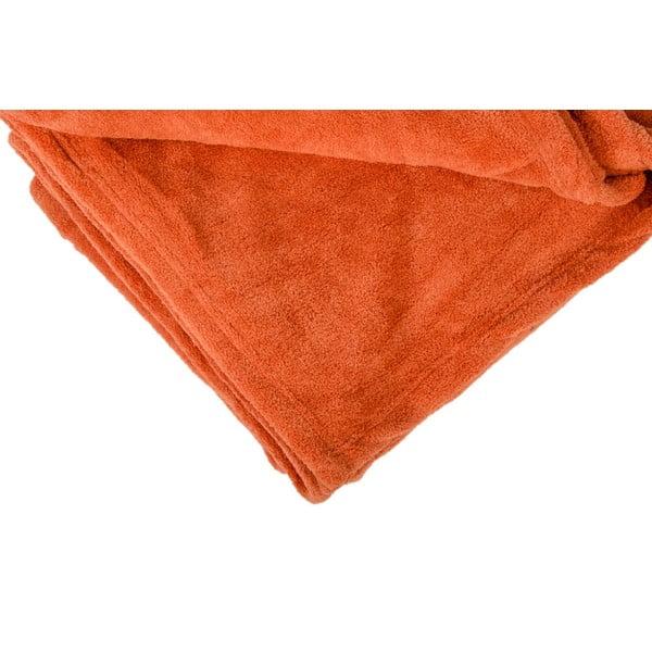 Narzuta na łóżko Sherpa Orange, 220x240 cm