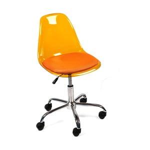 Krzesło biurowe na kółkach Plato, pomarańczowe