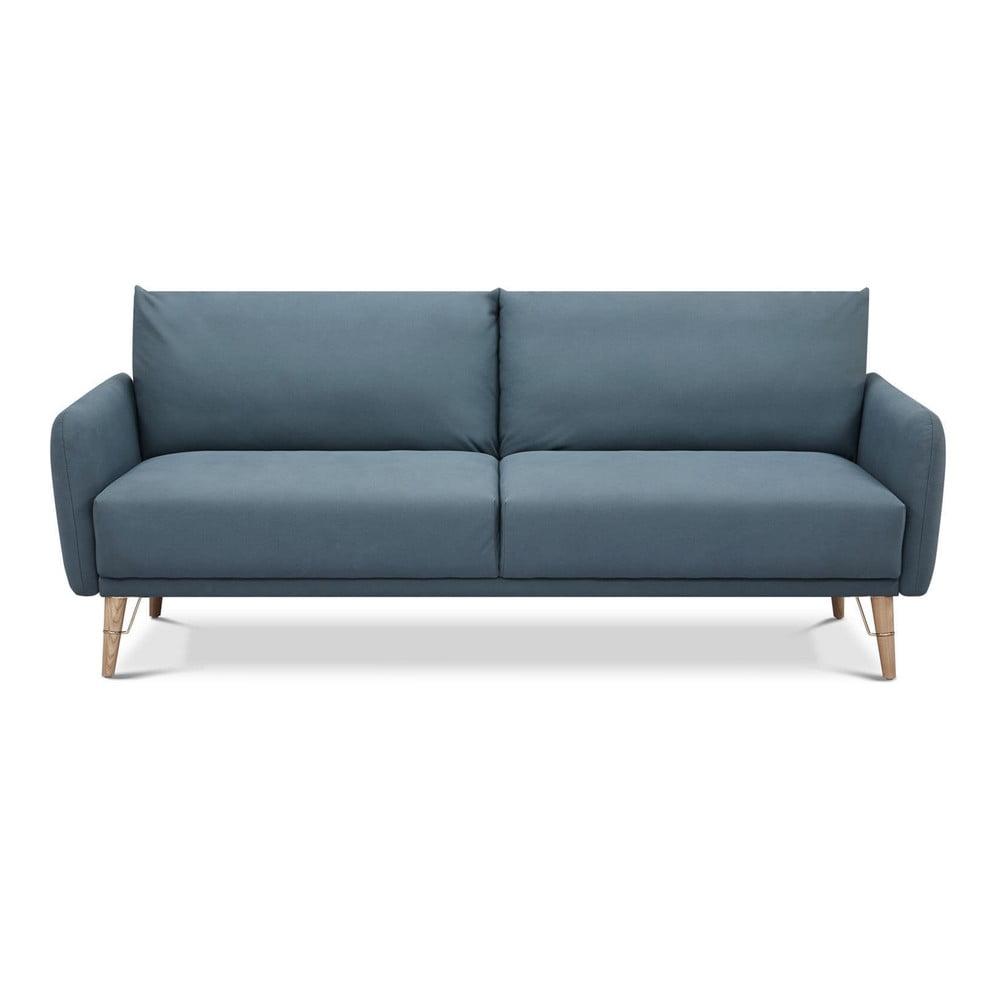 Niebieska rozkładana sofa Tomasucci Cigo,szer.210cm