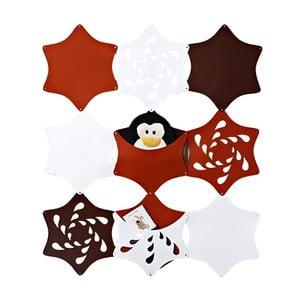 Filcowe kieszonki wiszące Kwiaty, biały/rudy/brązowy