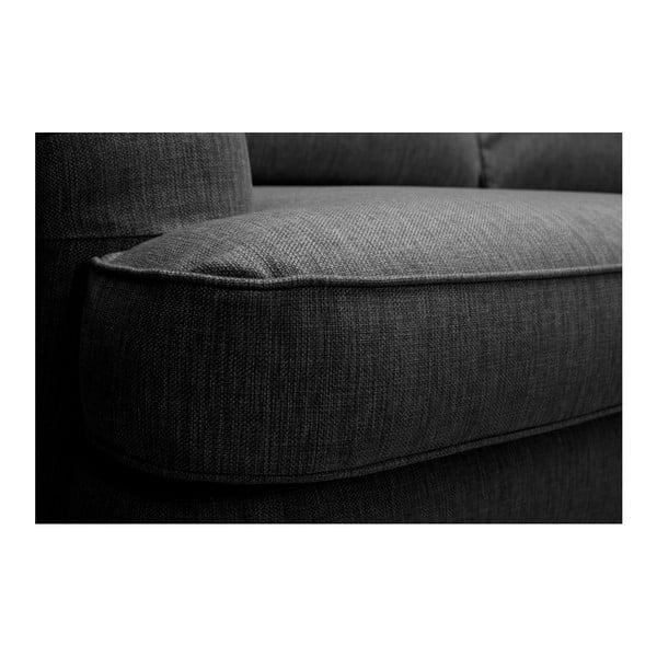 Antracytowa sofa 3-osobowa Vivonita William