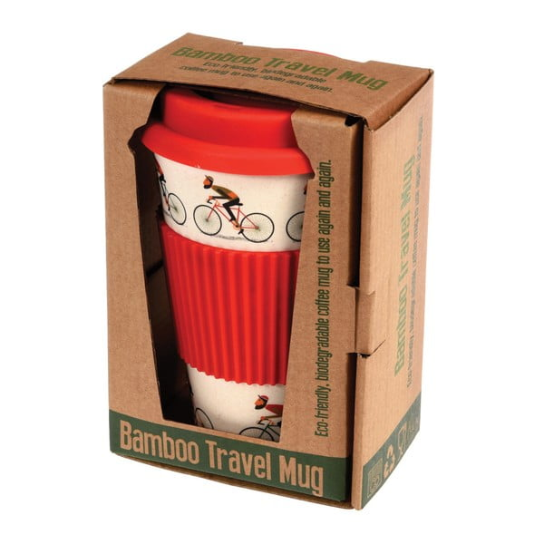 Bambusowy kubek podróżny Rex London Le Bicycle, 400 ml