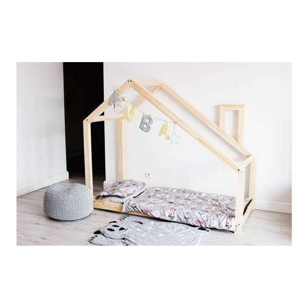 Łóżko dziecięce z sosnowego drewna Benlemi DENY, 90x180 cm