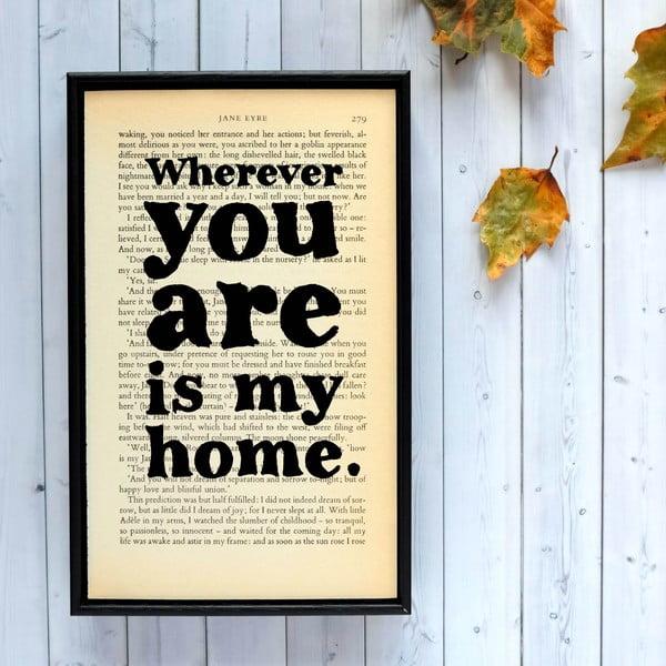 Plakat w   drewnianej ramie Jane Eyre Wherever You Are