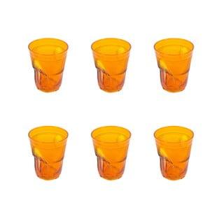Komplet 6 szklanek Kaleidoskop 360 ml, pomarańczowy