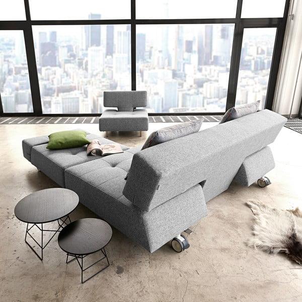 Szary fotel rozkładany Innovation Long Horn