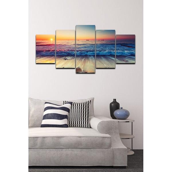 Pięcioczęściowy obraz Tropical Paradise Sunset