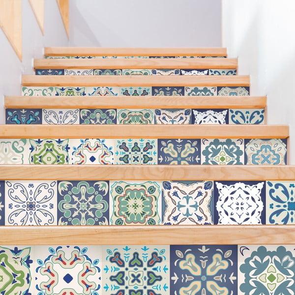 Zestaw 2 naklejek na schody Ambiance Cabiria, 15x105 cm