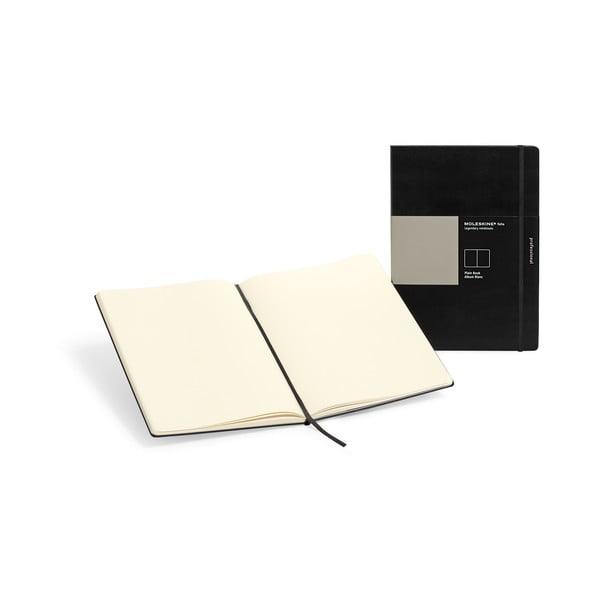 Czarny notatnik Moleskine Folio Book, gładkie