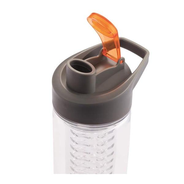 Pomarańczowa butelka z sitkiem na owoce XD Design Loooqs