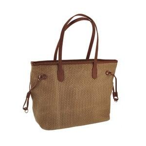 Skórzana torebka Merga, brązowa